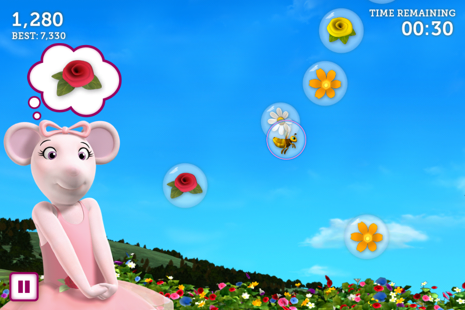 Screenshot Angelina Ballerina's Bubble Pop Game